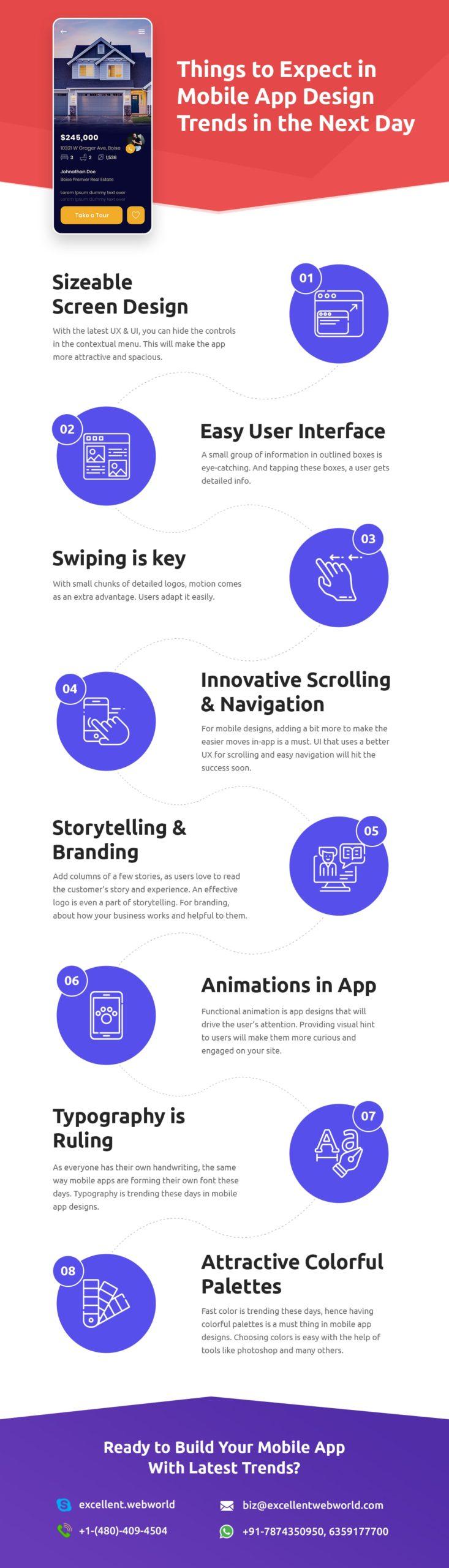 mobile app design trends infographic