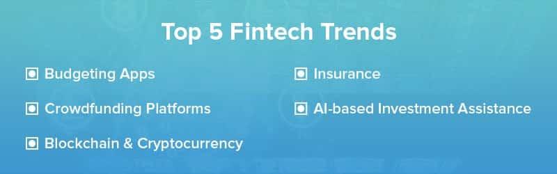 Top 5 Fintech Trends