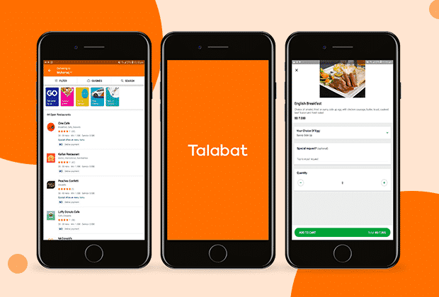 Food delivery app like Talabat