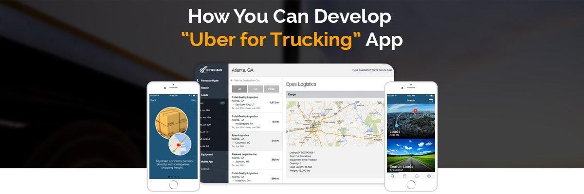 Uber for trucks app development