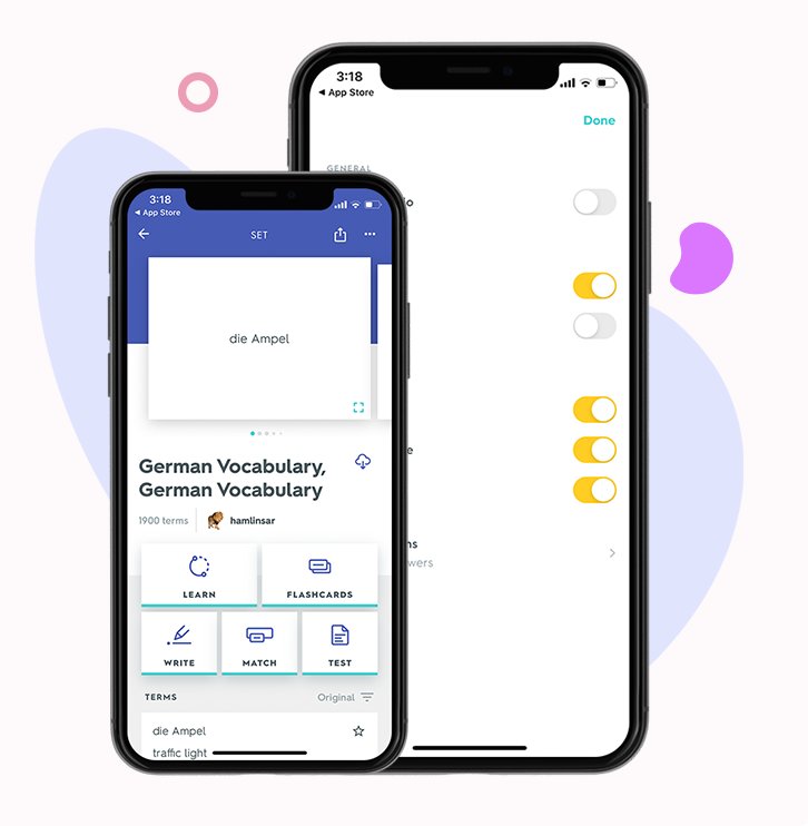 features of quizlet app