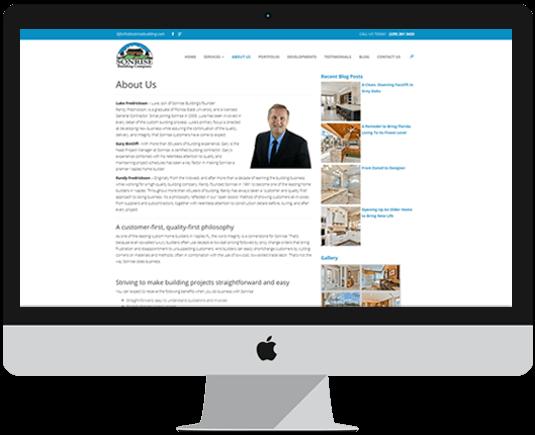 Real estate website design features