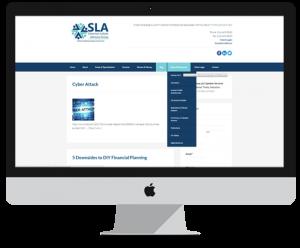 financial website design features