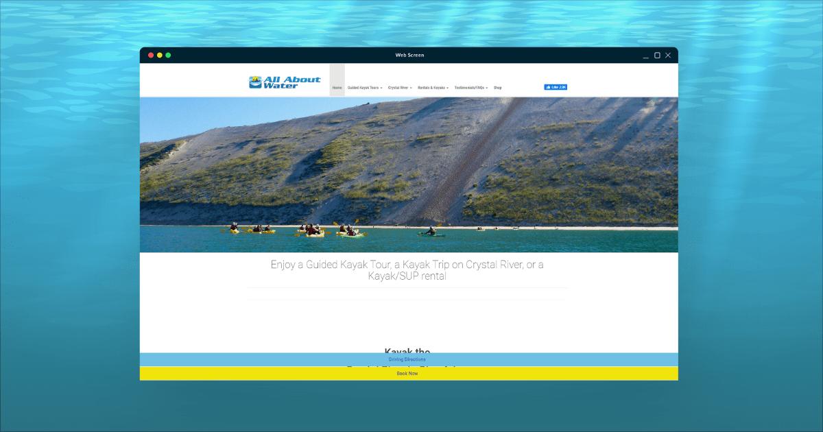 Build Water Sports Services Website Design