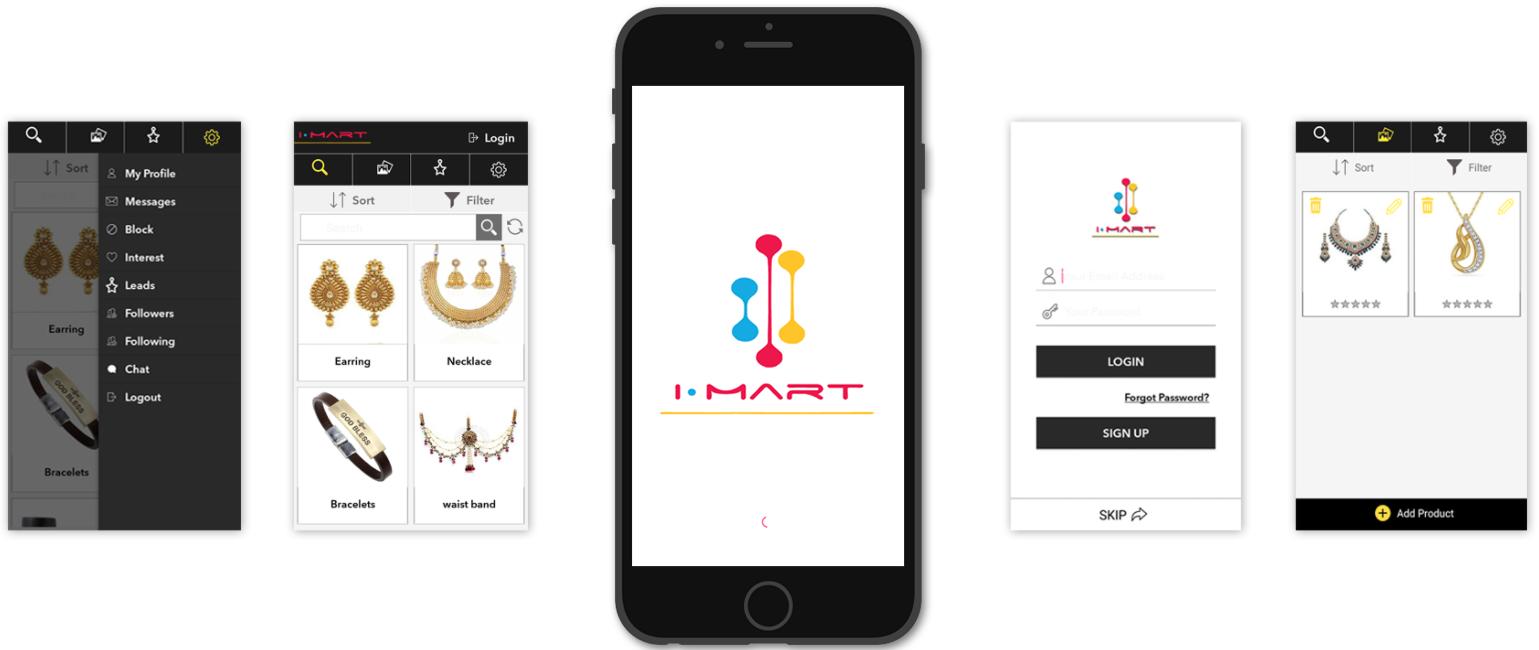 Screenshot Jewelry App Design