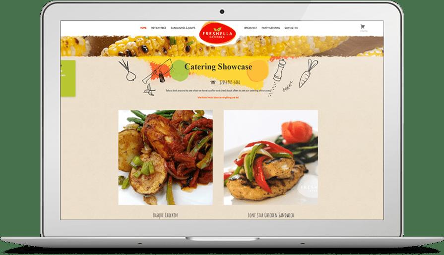 best restaurant food catering website design