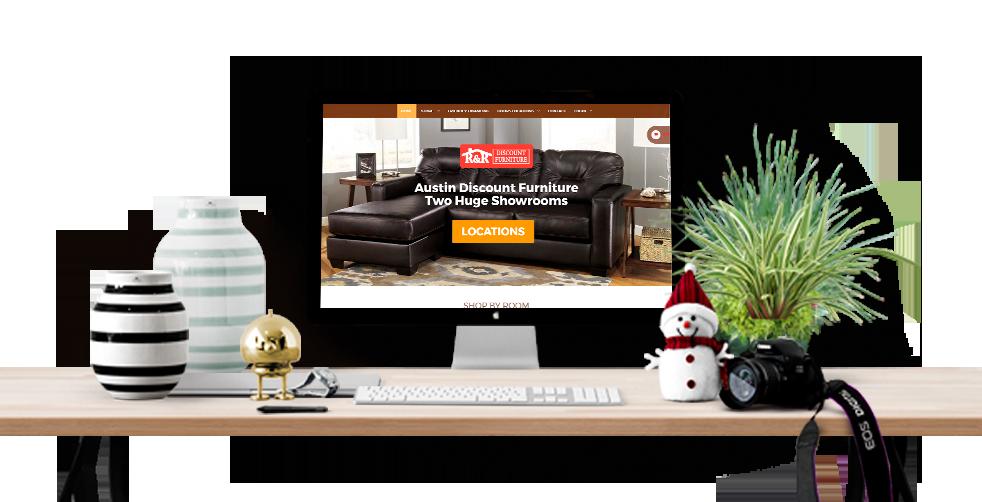 best furniture shop website design solution