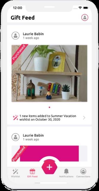 Gift App Screen