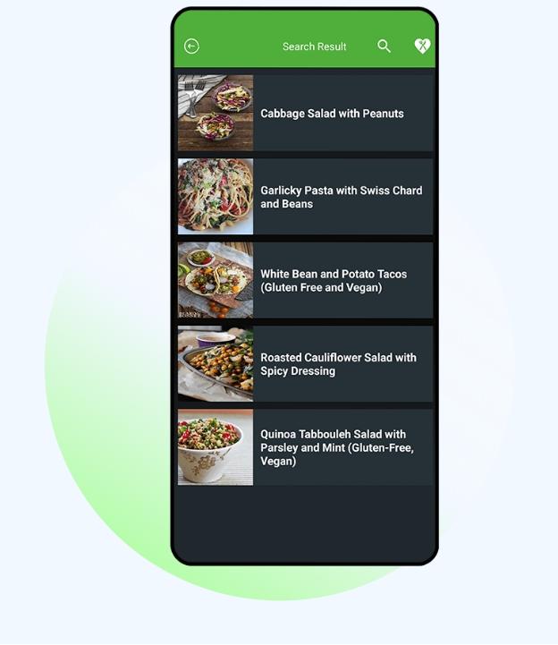 Diet Meal Plan App Search Screen