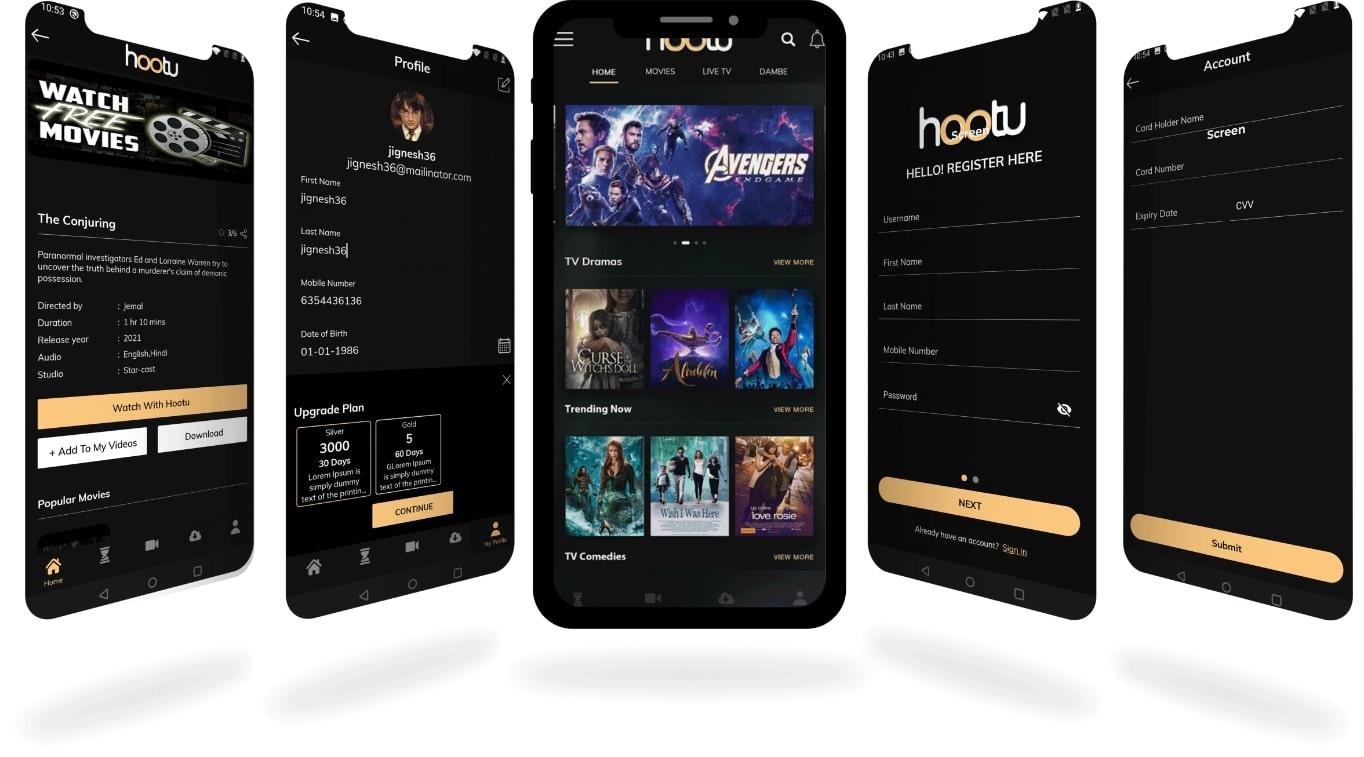 Glimpse of Hootu App