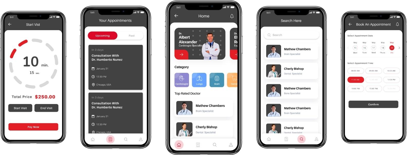telemedicine app screenShot