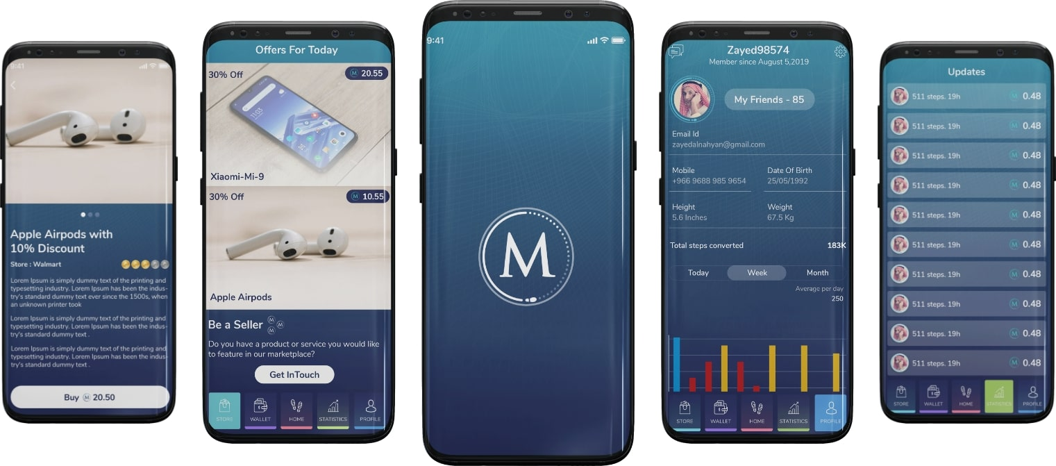 screenshot health fitness app