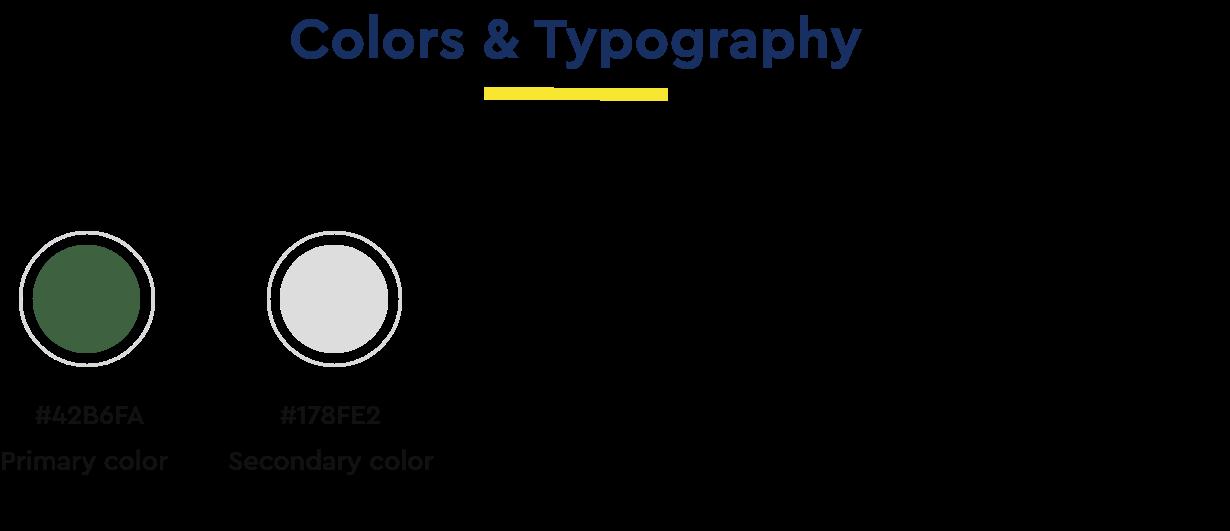 colors typography