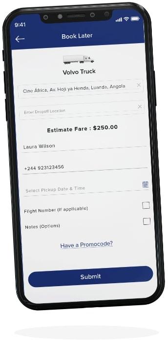 connectcargo shipper app screen three