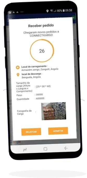 connectcargo customer app screen one