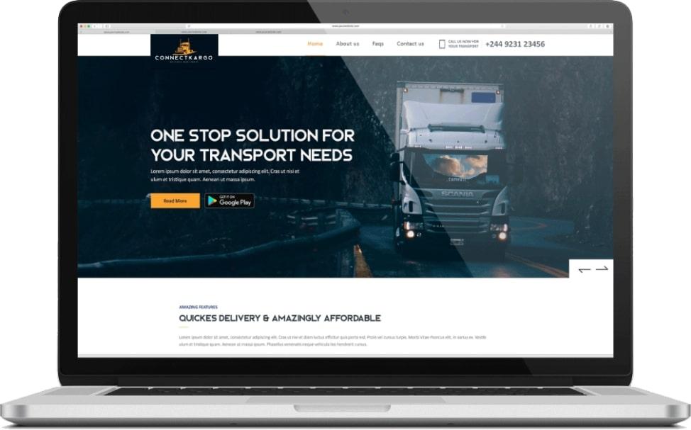 best transportation website screenshot
