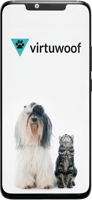 Veterinary Telemedicine App Screen 1