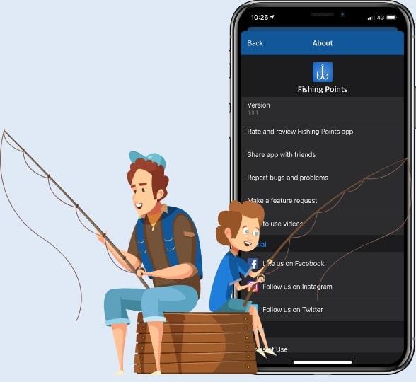 fishing points app work