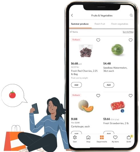 features of mobile app like walmart