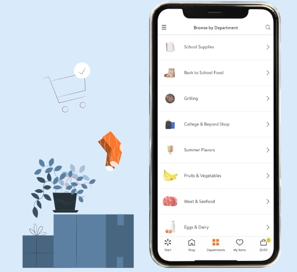 walmart mobile application work