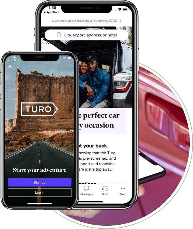 car rental app like turo