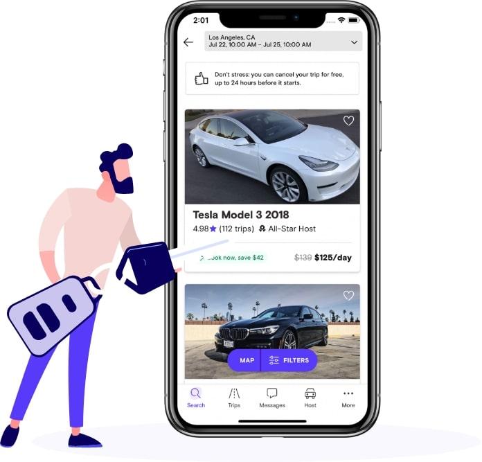 turo car rental application