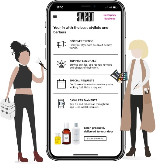 styleseat application features