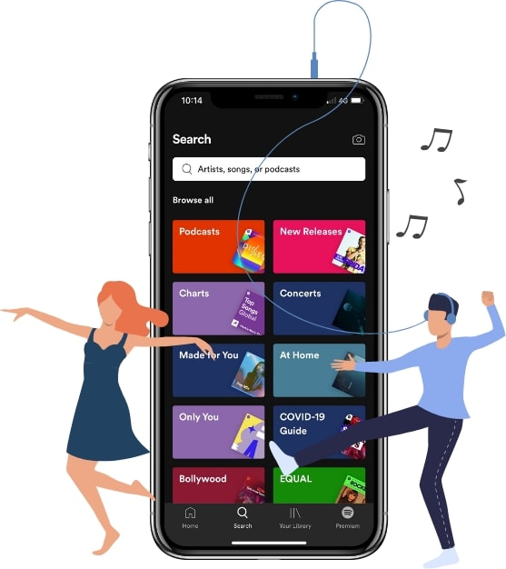 spotify music streaming app features