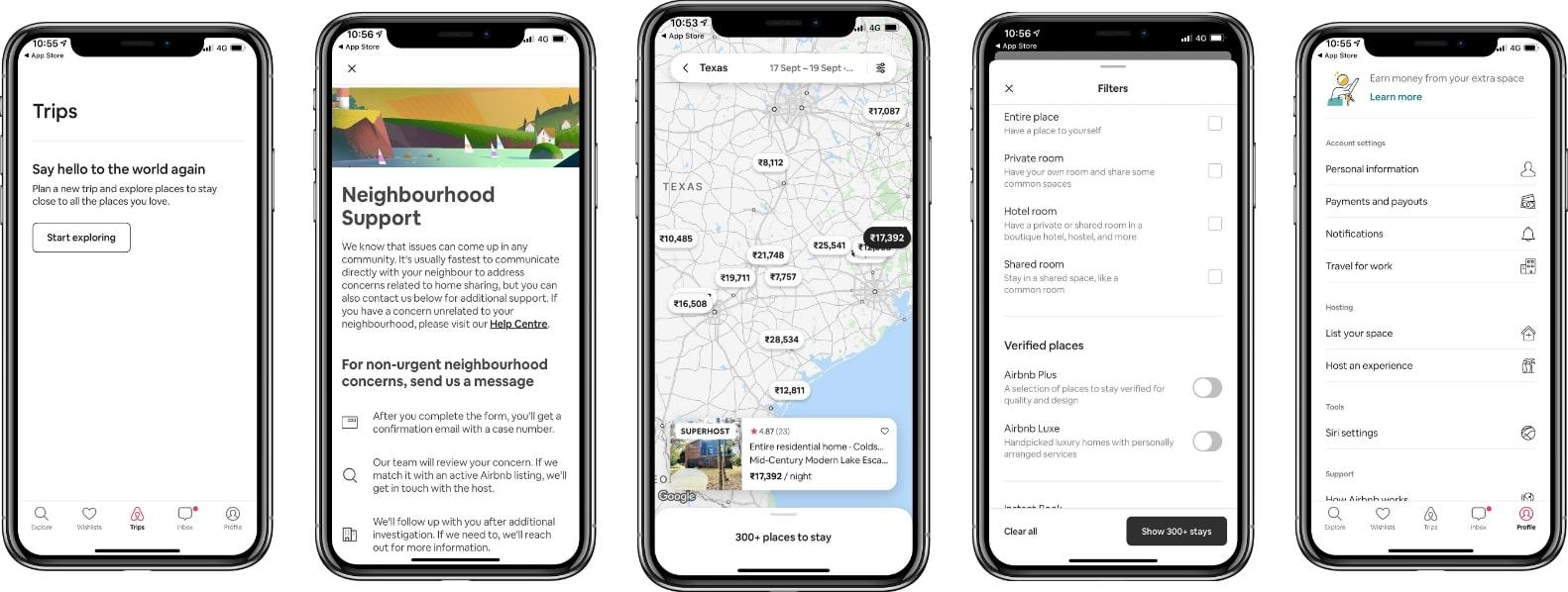 airbnb app design screenshot