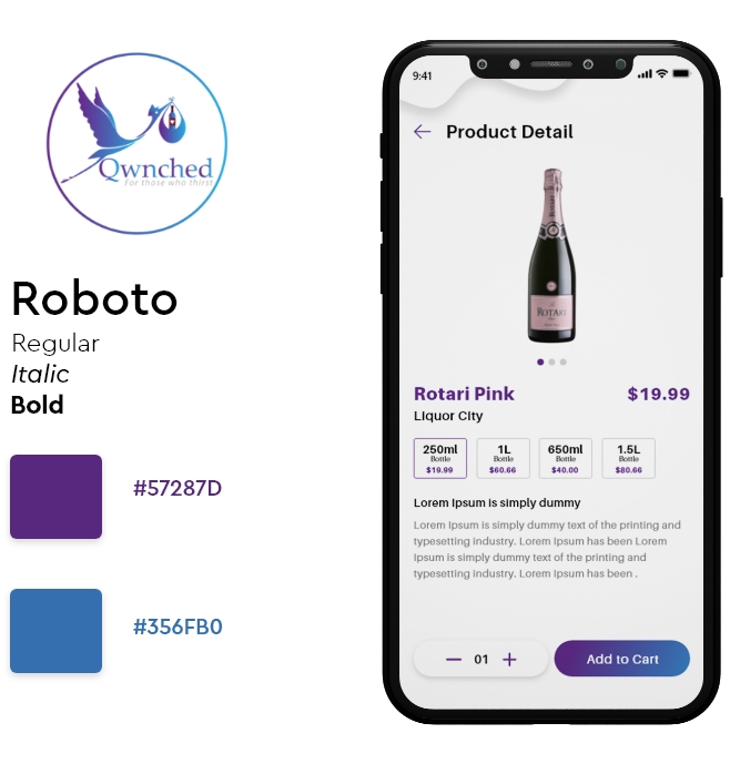 ui/ux Design for Alcohol Delivery App and Website